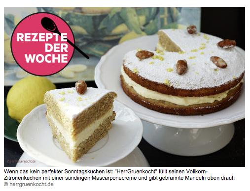 Herr Grün kocht bei Stern.de