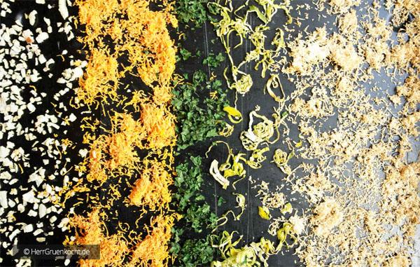 Abbildung 3 – das Gemüse nach 60 Minuten