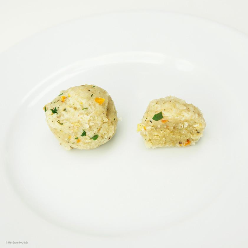 Vegane Grießklößchen ganz einfach