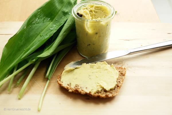 Vegane Bärlauch-Bohnencrème