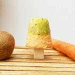 Veganes Eis am Stiel: Kiwi-Möhre mit Ahornsirup