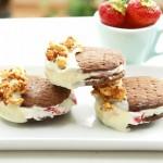 Eiswaffel mit Erdbeer-Mascarpone-Crème