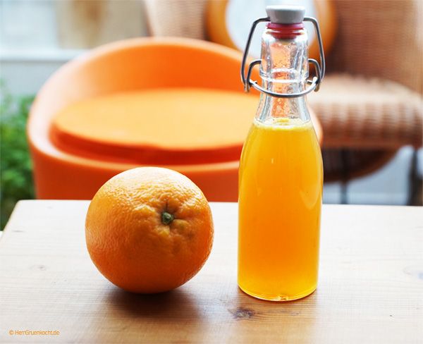 orangensirup einfach selber machen herr gr n kocht. Black Bedroom Furniture Sets. Home Design Ideas