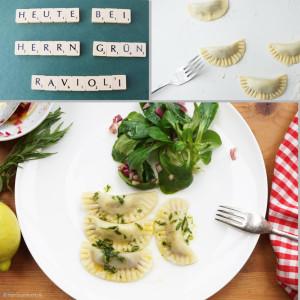 Ravioli mit Estragon-Zitronensauce