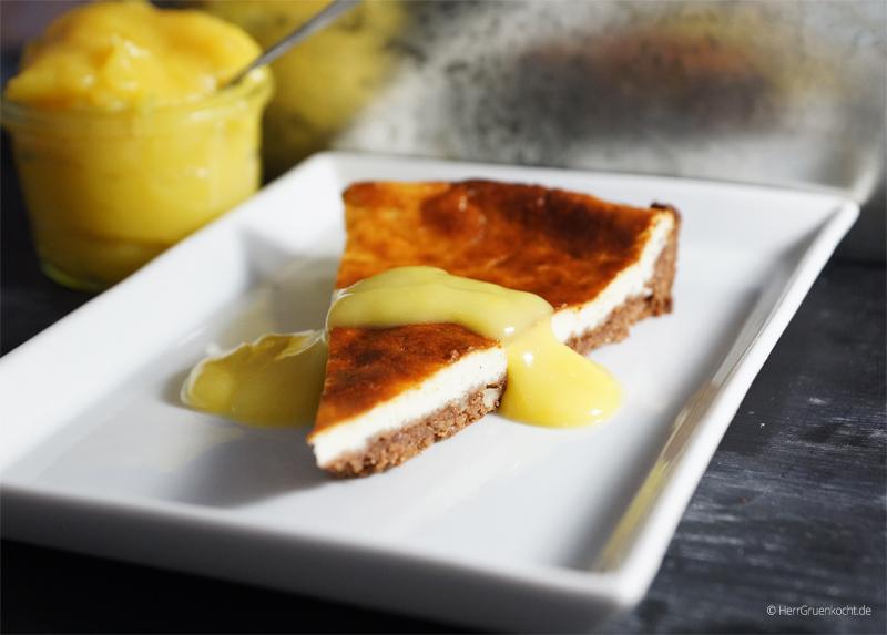 Käsekuchen mit Orangen Curd