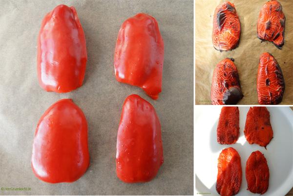 Paprika ganz einfach häuten