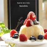 Die Beerenfalle – selbst gemachter Vanillepudding mit Himbeeren, Blaubeeren und Vanillesoße