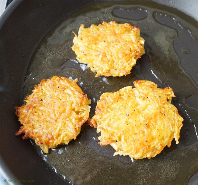 vegane Kartoffel-Möhren-Puffer