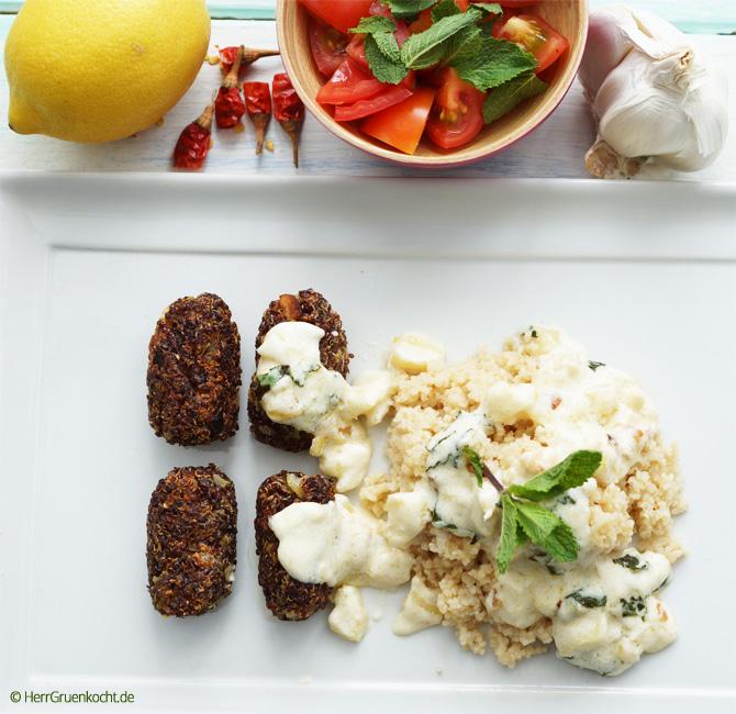 vegetarische Orientalische Rolls