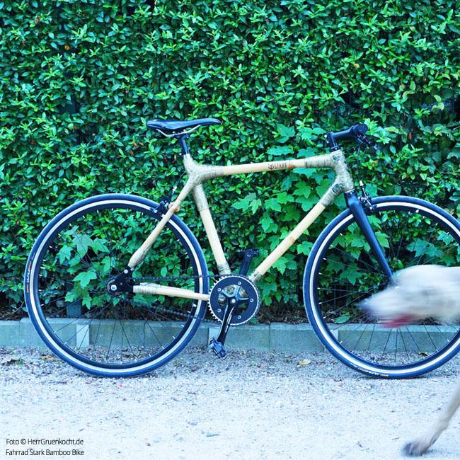 Das Bamboo Bike vor Hagenbeck
