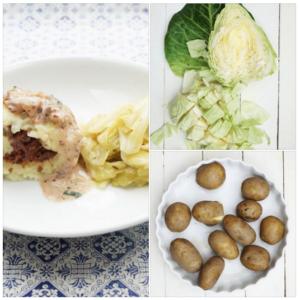Vegetarische gefüllte Kartoffelklöße