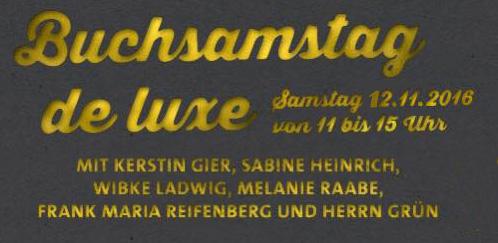 Buchsamstag Herr Grün Köln