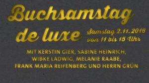 Buchsamstag de luxe Buchladen Köln Neusser Straße