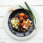 Salat Nykøbing mit einer Aprikosenmarmelade-Zitronette