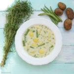 Kartoffel-Bohnensuppe mit frischem Bohnenkraut