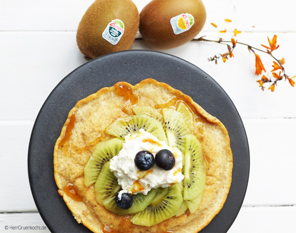 Pancakes mit Zespri Kiwis