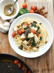 Spaghetti Filippe mit Spinat und Tomaten