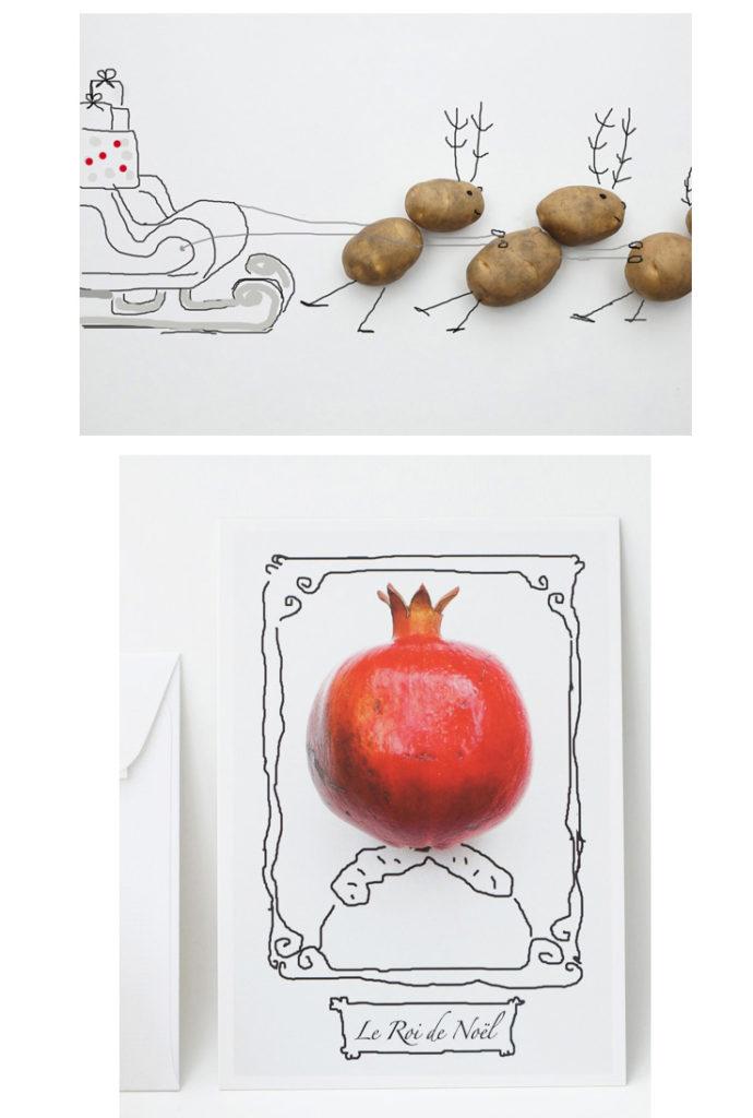 Herr Grün Weihnachtskarten