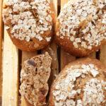 Quark-Müsli-Brötchen mit Vollkorn-Dinkelmehl gebacken – schnell und einfach