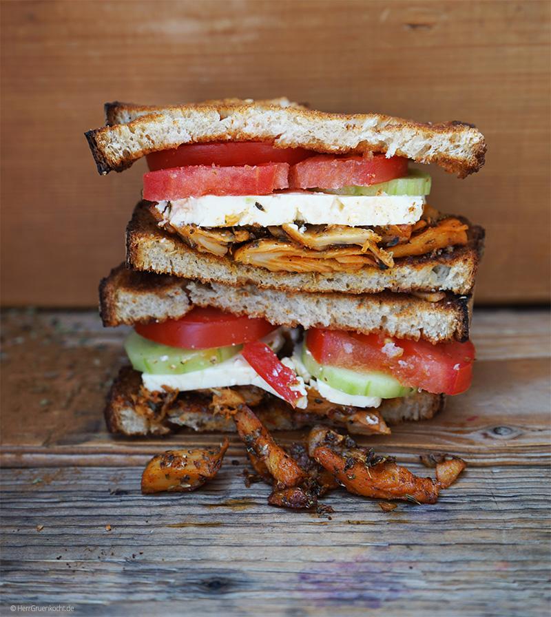 Vegetarisches Gyros Sandwich