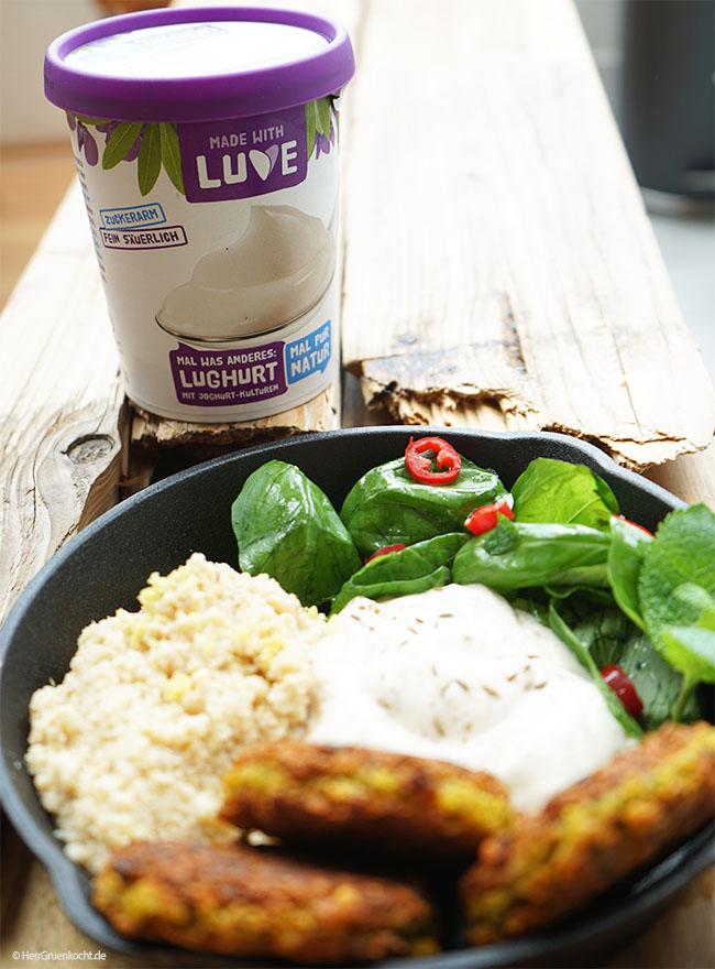LUVE Lughurt mit Falafel