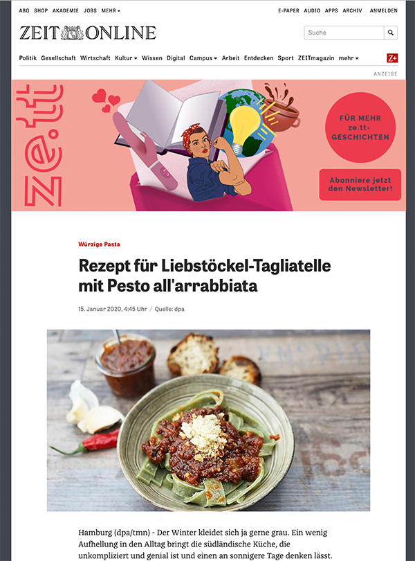 Herr Grün auf ZEIT online