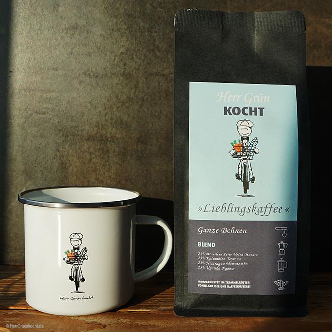 Herr Grün Tasse und Herr Grün Lieblingskaffee