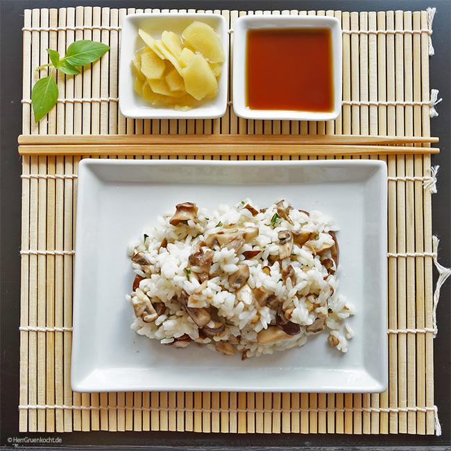 Japanischer Reissalat mit süß-saurem Ingwer