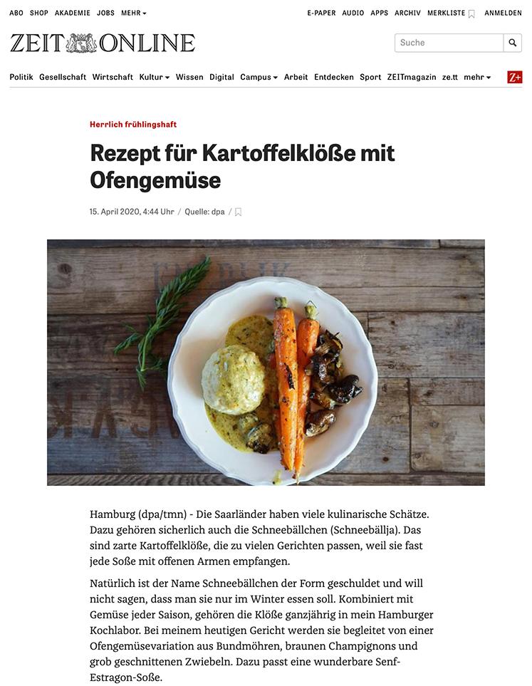 Herr Grün auf ZEIT.de