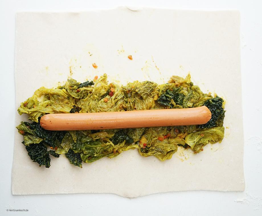 die OHNE vegetarische Frankfurter