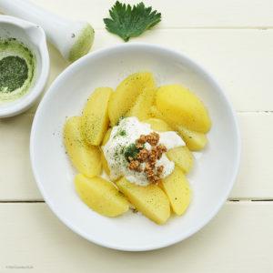 Kartoffeln mit Selleriesalz und Sesamkrokant